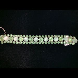 Vintage bracelet of lt. green crystals